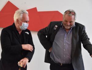 Architekt Dietmar Eberle und Herbert Meusburger am 25.9.2020 (Foto: Kapi)